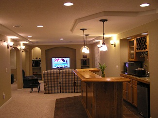 basement finish design photos