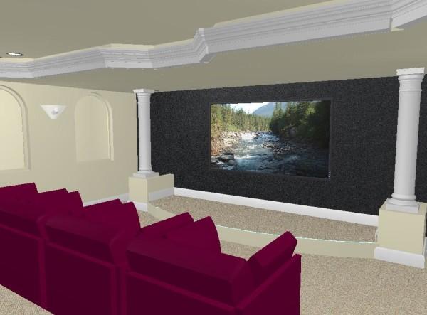 Basement design in 3d for Basement remodeling software