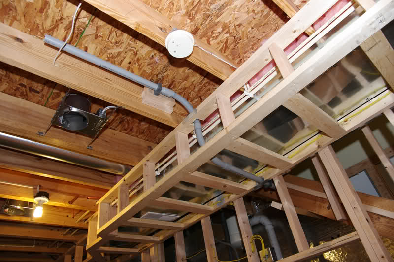 Basement soffits and how to build them for Build best construction
