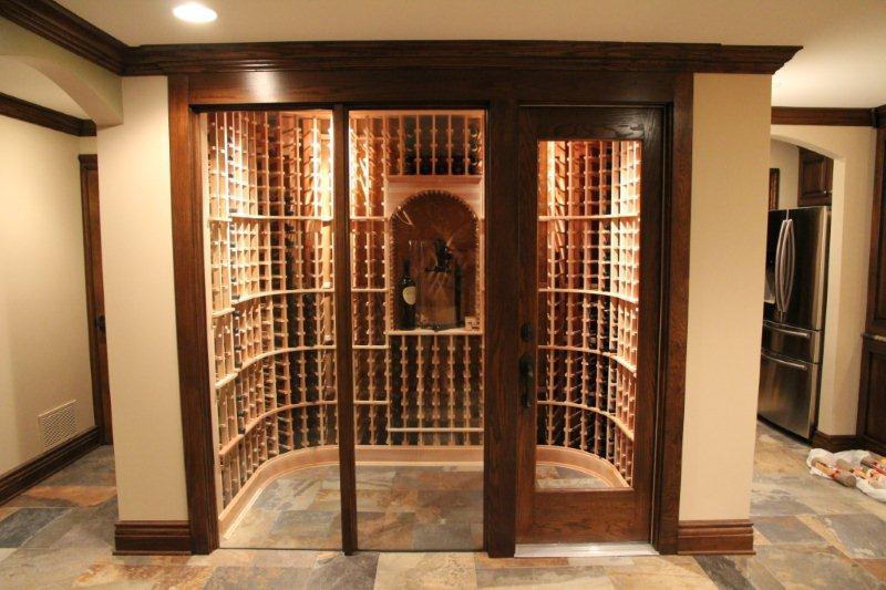 WINE ROOM Basement Finish Design